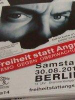 Mobilisierungs-Material zur Freiheit statt Angst Demo am 30.August 2014 in Berlin